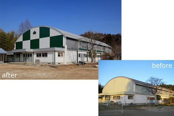 高萩市立松岡小学校体育館耐震補強 (2013)