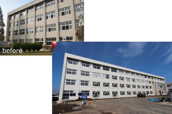 筑西市立下館中学校耐震補強 (2015)